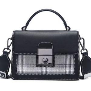 European Style Black Vegan Crossbody Handbag